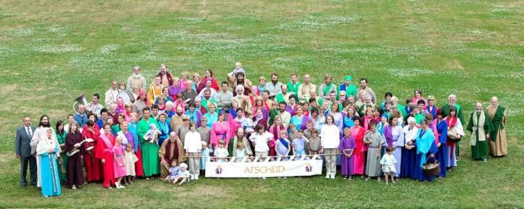 groepsfoto afscheid Kroningsfeesten juli 2009